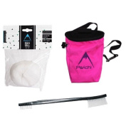 Psychi Bouldering Climb Climbing Starter Pack Bundle with Chalk Bag Chalk and Brush