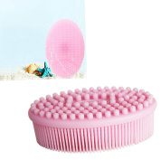 Baby shampoo brush silicone brush baby massage brush bath brush children adult bath + silicone face clean brush.JRong