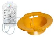 Vakly Sitz Baths With Bag and Tubing, Yellow,