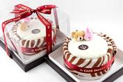Couture Towel CT-PA8C001202 30 x 33cm x 7.6cm . Chocolate Hazelnut Cake Towel44; Vanilla & Chocolate