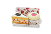 Couture Towel CT-GS15000001 Peach Chiffon Cake & Strawberry Cupcake Towel44; Sweet Confections