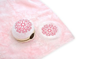 Couture Towel CT-PASS001501 28cm x 30cm . Strawberry Savrin Towel44; Pink Daisy