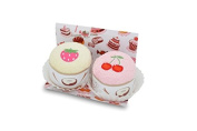 Couture Towel CT-GS15000003 13 x 36cm x 5.1cm . Strawberry & Cherry Cupcakes Towel44; Sweet Confections