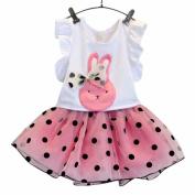 Baby skirt set, Palarn 2pcs Baby Kids Girls Sleeveless Blouse T-shirt+Floral Skirt Clothing Set