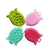 TiTa-Dong Newborn Infant Baby Soft Silicone Brush Washcloths Rub Towel Bath Foam Shower Sponge Glove Random Colour