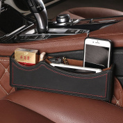PU Leather Car Seat Catcher Organiser,Seat Console Gap Filler Side Pocket Automotive Interior Accessories Storage Box
