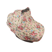 SHELLBOBO Convenient Breastfeeding Covers Floral Scarf Baby Car Seat Canopy