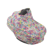 SHELLBOBO Breathable Stretchy Universal 5 in 1 Multi-Use Baby Highchair Canopy Floral Nursing Cover