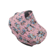 SHELLBOBO Smart Baby Carriage Cover Unisex Car Seat Cover Pushchair Canopy Floral Print