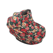 SHELLBOBO Smart Baby Carseat Canopy Stretchy Baby Car Seat Cover Vintage Floral Stroller Cover