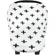 SELFON Baby Car Seat Canopy,Nursing Breastfeeding Cover Scarf, Shopping Cart Stroller Carseat Sun Shade, Multi-Use Stretchy Infinity Shawl