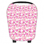 SELFON Nursing Breastfeeding Cover Scarf, Baby Car Seat Canopy, Shopping Cart Stroller Carseat Sun Shade, Multi-Use Stretchy Infinity Shawl
