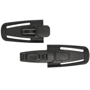 Lock Tite Harness Chest Clip, Car Safety Seat Belt Clip Safe Buckle for Baby - Black