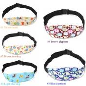 Fabric Car Safety Seat Sleep Positioner Baby Playpen Head Support Pram Stroller Adjustable Dot Belt