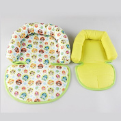 KAKIBLIN Baby Infant Soft Head Neck Support Cushion Pillow for Car Seat, Pushchair,Baby Carrier,Green