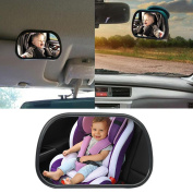 Leegoal(TM) Baby Car Mirror for Rear Facing Infant Car Seats, Premium with Perfect Reflection, Shatterproof