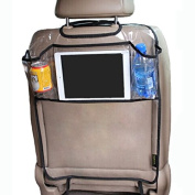 Environmental PVC Car Back Seat Protector Kicking Mat With Organzier Pocket For Ipad Drink