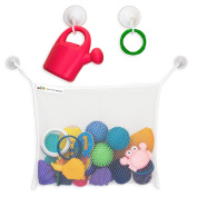 Hello Little Monsters Bath Tub Organiser - Keep Baby Toys Dry and without Mould - The mesh bag is easy to instal, durable and holds a lot of Toys - 2x Extra Suction Cups with Hooks