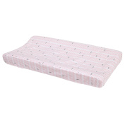Petunia Pickle Bottom Dreaming in Dax Quilted Changing Pad Cover, Pink/Grey/White