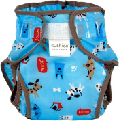 Kushies Waterproof Nappy Wrap, Blue Woof, Toddler