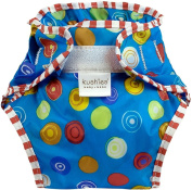 Kushies Waterproof Nappy Wrap, Blue Crazy Circles, Infant