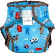 Kushies Waterproof Nappy Wrap, Blue Woof, Infant