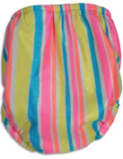 My Pool Pal - Baby Girls Striped Reusable Swim Nappy, Multi 28822-Small