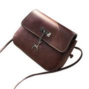 Aurorax Women Messenger Bags Vintage Small Leather Handbag Casual Bag