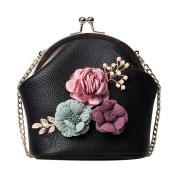 Aurorax Women Literature and art Fashion Handbag Shoulder Stereo Flowers Bag Small