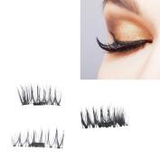 Aurorax Women NEW Ultra-thin 0.4mm Magnetic Eye Lashes 3D Reusable False Eyelashes