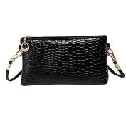 Aurorax Women Crocodile Leather Messenger Crossbody Clutch Shoulder Handbag