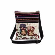 Aurorax Women Embroidered Owl Tote Bags Women Shoulder Bag Handbags Postman Package