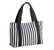 Canvas Tote Bag Women's Handbag Striped Beach Bag Shoulder Travel Bag
