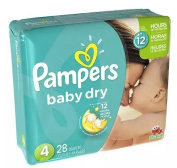 Pampers Baby overnight protection. Nappies Size 4 28.0 ea