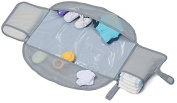 LulyBoo Changing Kit - Waterproof Compact Travel Mat Unfolds Into Nappy Changing Pad - Grey