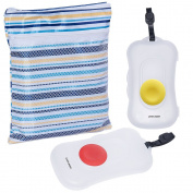 Linda Diary 2pc Pack On The Go Baby Wipe Case Wet Wipe Dispenser With Extra Waterproof Nappy Cloth Daycare Organiser Bag