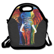 Elephant Painting Lunch Bag Adjustable Strap