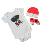 Nike Michael Jordan 23 Jumpsuit 3 pcs infant Layette Sets