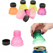 Ikevan 6Pcs Soda Saver Pop Beer Beverage Can Cap Flip Bottle Top Lid Protector Snap On