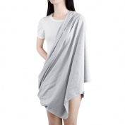 Multifunctional Infinity Nursing Breastfeeding Cover Scarf Blanket Baby Car Seat Canopy Grey