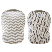 Yaya Stretchy Multi Use Car Seat Canopy (2 Cover Set) - Nursing Cover for Breatfeeding - Shopping Cart & High Chair Cover.