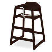 LA Baby Solid Wood High Chair, Cherry
