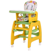 Costzon 3 in 1 Infant High Chair Convertible Play Table Seat Booster with Feeding Tray