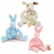Bunnies by The Bay Bundle of 3 Silly Buddies Pacifier Holders - Blue Bunny, Pink Bunny, & Skipit Puppy