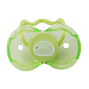 Myhouse Silicone Baby Toddlers Pacifier Thumb Shape Green Pacifier