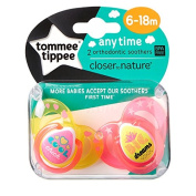 Closer To Nature Any Time Soother Twin Pack - 6-18m