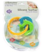 Cribmates Silicone Teether Keyring - orange/multi, one size