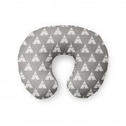 AllTot Nursing Pillow Cover in Grey Teepees