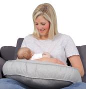 Leachco Natural Basic Contoured Nursing Pillow - Grey Pindot