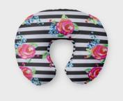 AllTot Nursing Pillow Cover in Watercolour Floral Stripe